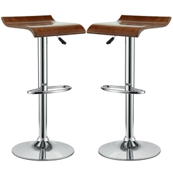 Bentwood Bar Stool Set of 2 - Oak