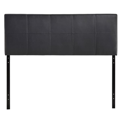 Oliver Queen Upholstered Vinyl Headboard - Black