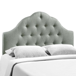 Sovereign King Upholstered Fabric Headboard - Gray
