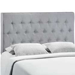 Clique Queen Upholstered Fabric Headboard - Sky Gray