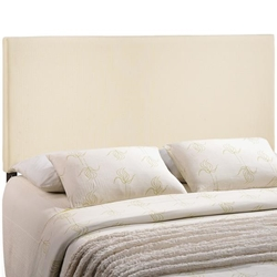 Region King Upholstered Fabric Headboard - Ivory