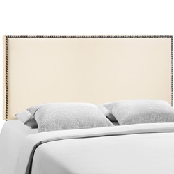 Region Nailhead Queen Upholstered Headboard - Ivory