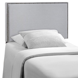 Region Nailhead Twin Upholstered Headboard - Sky Gray