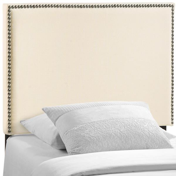 Region Nailhead Twin Upholstered Headboard - Ivory