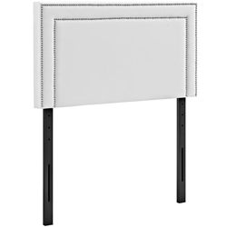 Jessamine Twin Upholstered Vinyl Headboard - White