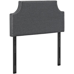Laura Twin Upholstered Fabric Headboard - Gray