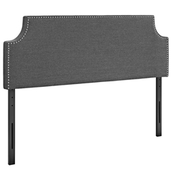 Laura Queen Upholstered Fabric Headboard - Gray