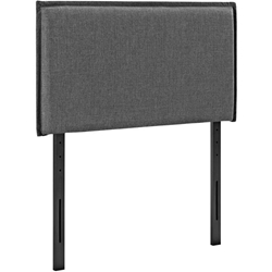 Camille Twin Upholstered Fabric Headboard - Gray