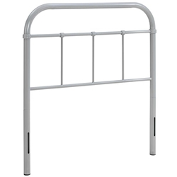 Serena Twin Steel Headboard - Gray