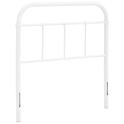 Serena Twin Steel Headboard - White