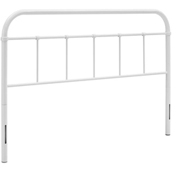 Serena Queen Steel Headboard - White