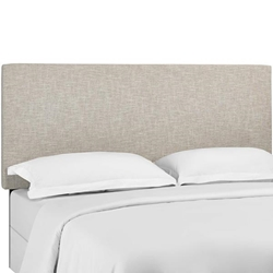 Taylor Twin Upholstered Linen Fabric Headboard - Beige