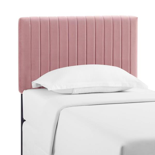 Keira Twin Performance Velvet Headboard - Dusty Rose