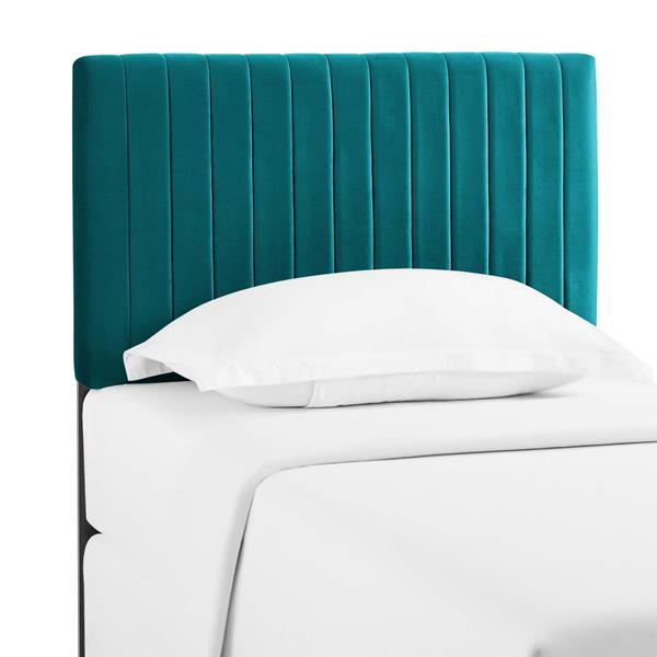 Keira Twin Performance Velvet Headboard - Teal