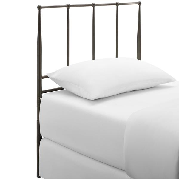 Kiana Twin Metal Stainless Steel Headboard - Brown