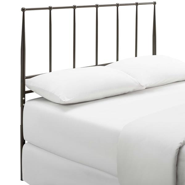 Kiana Queen Metal Stainless Steel Headboard - Brown