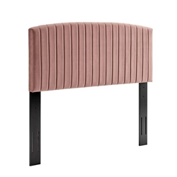 Rebecca Performance Velvet Twin Headboard - Dusty Rose
