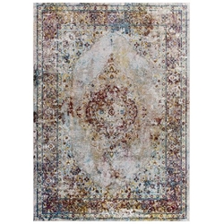 Success Merritt Transitional Distressed Floral Persian Medallion 4x6 Area Rug - Multicolored