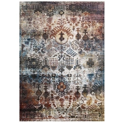 Success Tahira Transitional Distressed Vintage Floral Moroccan Trellis 4x6 Area Rug - Multicolored