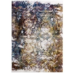 Success Jayla Transitional Distressed Vintage Floral Moroccan Trellis 4x6 Area Rug - Multicolored