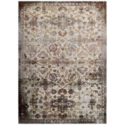 Success Kaede Distressed Vintage Floral Moroccan Trellis 4x6 Area Rug - Multicolored