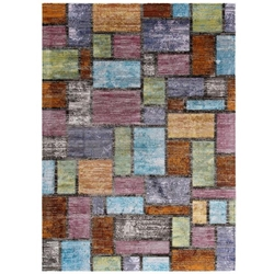 Success Nyssa Abstract Geometric Mosaic 4x6 Area Rug - Multicolored