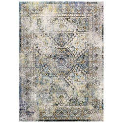 Success Jacinda Distressed Vintage Floral Persian Medallion 4x6 Area Rug - Multicolored