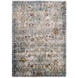 Success Manuka Distressed Vintage Floral Lattice 4x6 Area Rug - Multicolored