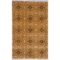 Bijnor Hand Knotted Rug 5 x 8