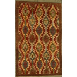 Bilaspur Hand Knotted Rug 5 x 8