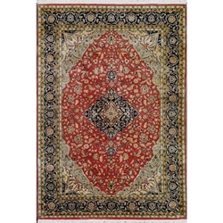 Deoghar Hand Knotted Rug 6 x 9