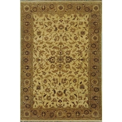 Etawah Hand Knotted Rug 6 x 9