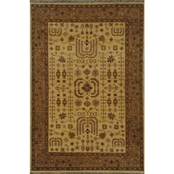 Faizabad Hand Knotted Rug 6 x 9