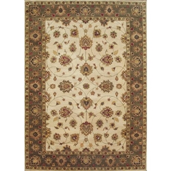 Nanded Hand Knotted Rug 10 x 14
