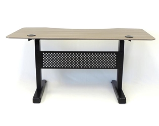 Carnegie 60 Inch Height Adjustable Desk in Driftwood