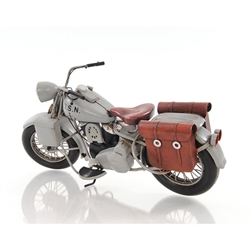 1945 Grey Motorcycle 1:12 Scale