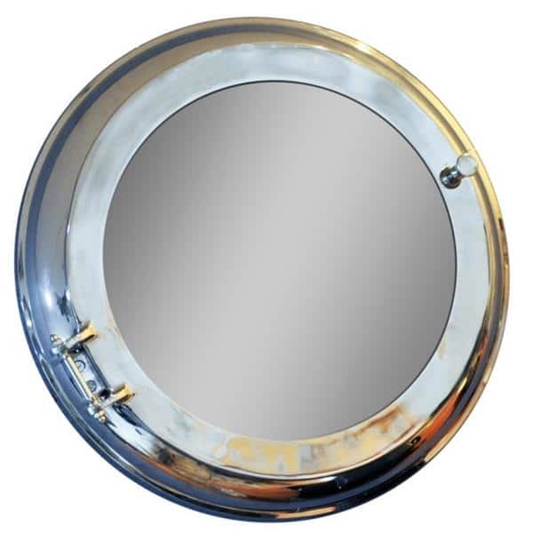 Aluminum Wall Mirror with Storage