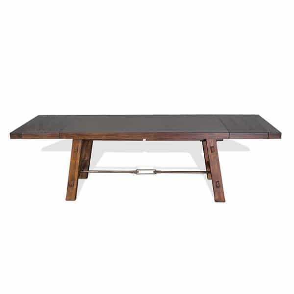 Tuscany Extension Table with Mahogany Solids and Veneers - Vintage Mocha