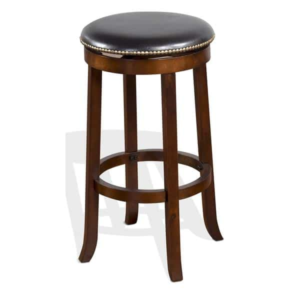 "Cappuccino Backless 30"" Swivel Barstool  - Cappuccino"