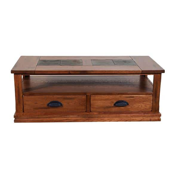 Sedona Coffee Table with Drawers - Rustic Oak