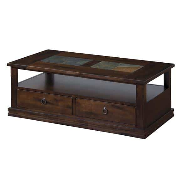 Santa Fe Coffee Table with Rustic Ring Pull - Dark Chocolate