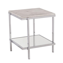 Corine Faux Marble End Table