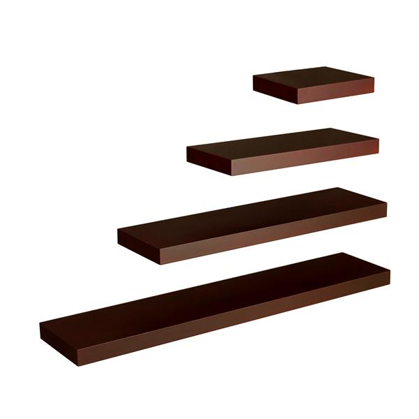 "Chicago Floating Shelf 24"" - Chocolate"