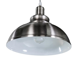 Morova Bell Pendant Lamp - Contemporary Style - Brushed Nickel