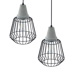 Brayonne Black Cage Pendant Collection - 2PC Set