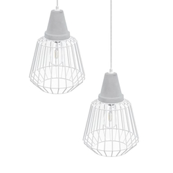 Brayonne White Cage Pendant Collection -2PC Set