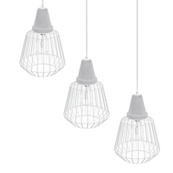 Brayonne White Cage Pendant Collection - 3PC Set