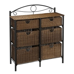 Iron & Wicker Storage Chest