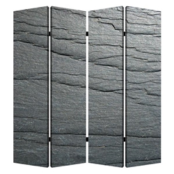 Black Slate Four-Panel Screen