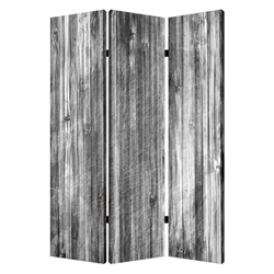 Distressed Wood Canvas Screen
